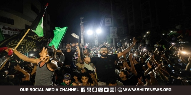 Hamas holds huge festival to celebrate Palestinian victory