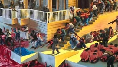 Iraqi artist depicts Speicher massacre