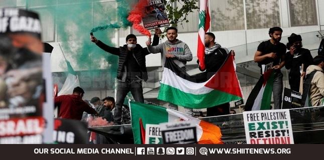 British pro-Palestine activists