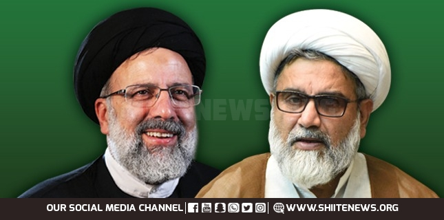 Allama Raja Nasir Abbas Jafari greets Ayatollah Ibrahim Raeesi on being elected President of Iran