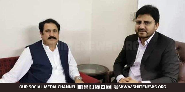 MNA of PPP Sajid Turi meets MWM leader Nasir Shirazi