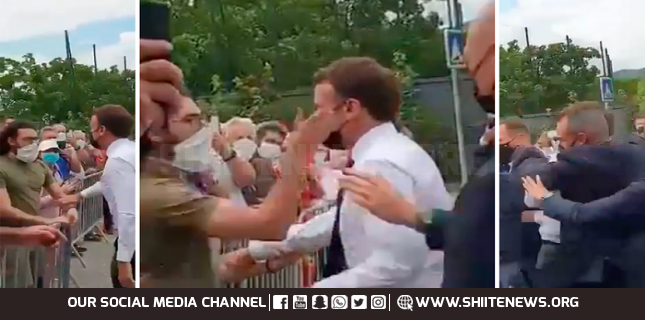 slapped Macron