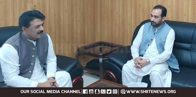 Agriculture Minister GB Mesum Kazim meets PM Advisor Jamshed Chima