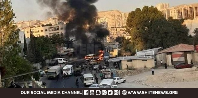 Explosion hits military bus in Damascus, injuries reported