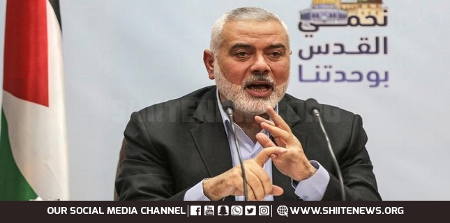 Iran is heart of Axis of Resistance: Ismail Haniyeh
