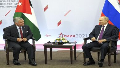 King Abdullah and Vladimir Putin