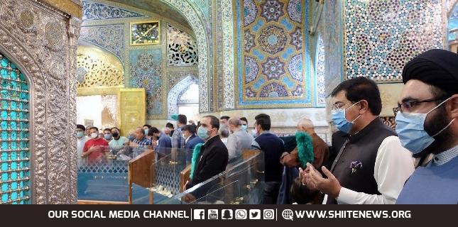 Sadiq Sanjrani visits Holy Shrine of Imam-e-Reza (Alaih-e-Salam)