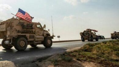 US military logistics convoy
