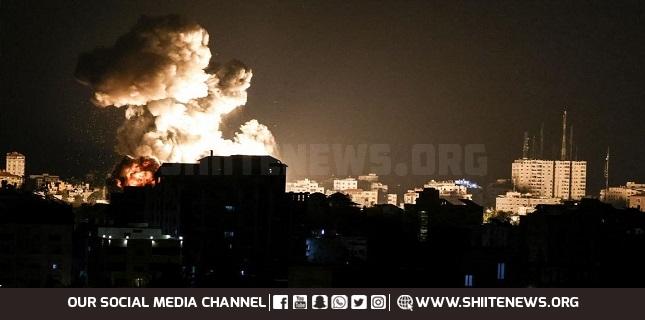 Zionist Warplanes Strike Gaza