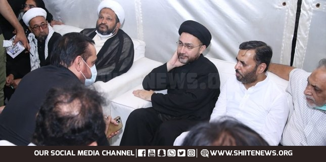 Chairman PSP, Mustafa Kamal meets Allama Shahenshah Naqvi