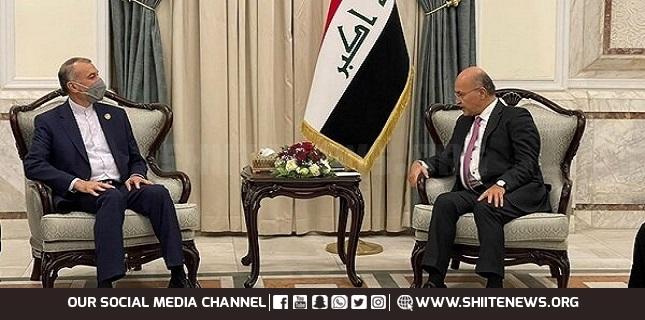 Barham Salih appreciates Iran's support for Iraq