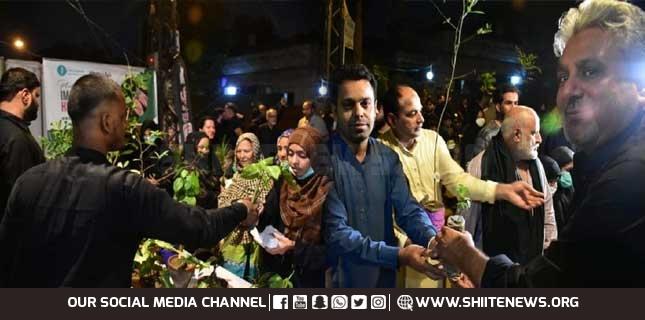 Unique Majlis-e-Aza, Plants divided among Shia-Sunni mourners