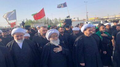 Presence of Ayatollah Bashir Najafi in Arbaeen pilgrims walk