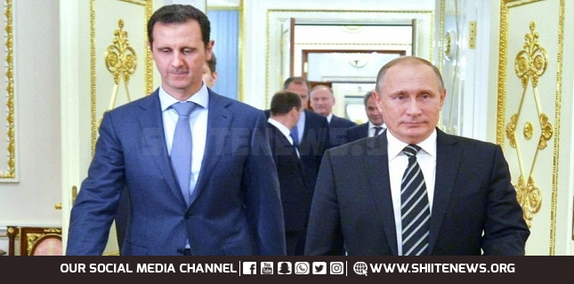 Putin criticizes foreign forces in Syria at Kremlin meet with Assad