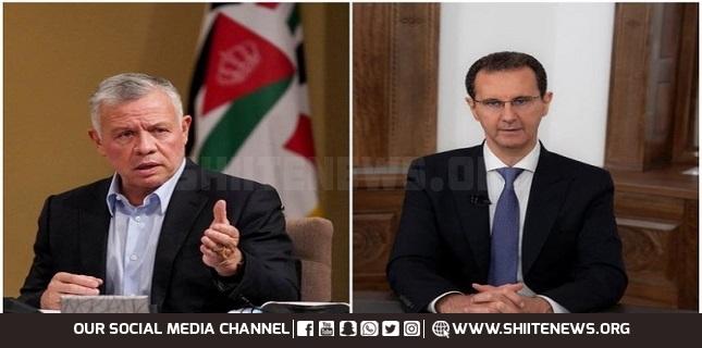 Assad, Jordan's King hold 1st phone talk since start of conflict in 2011
