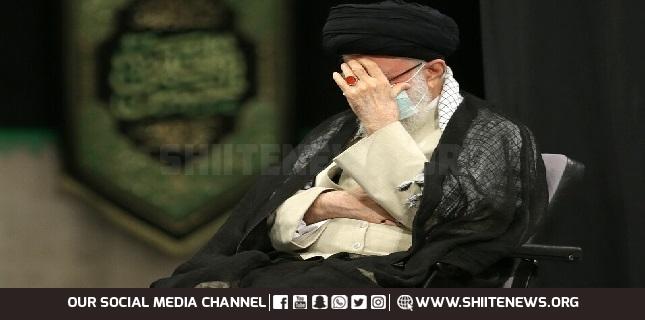 Ayatollah Khamenei attends mourning ceremony for Prophet, Imam Hassan